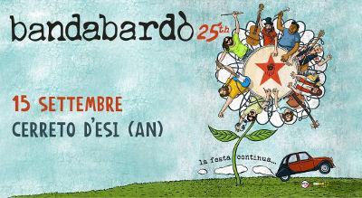 Bandabardò 25th alla Festa dell'Uva di Cerreto d'Esi (AN), 15 settembre 2018. © Bandabardò / Pro Loco Cerreto d'Esi