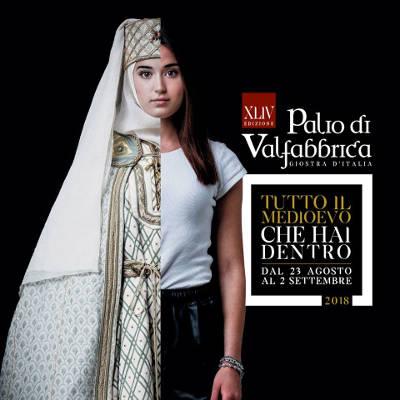 Palio di Valfabbrica, giostra d'Italia, 2018 - XLIV edizione. Tutto il Medioevo che hai dentro. Dal 23 agosto al 2 settembre 2018 a Valfabbrica (PG). © Palio di Valfabbrica 2018.
