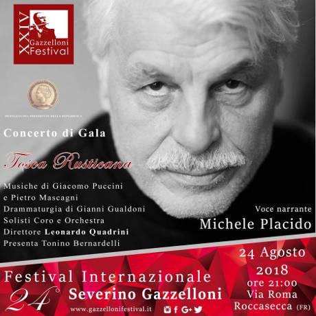 Festival Severino Gazzelloni 2018, locandina serata di apertura con Michele Placido