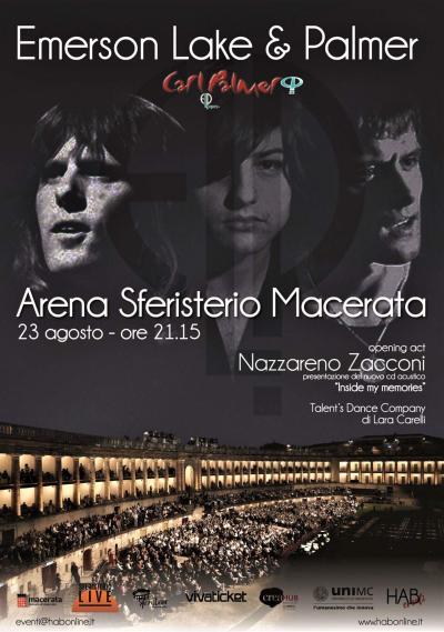 Emerson Lake & Palmer, locandina concerto a Macerata