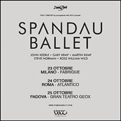 Spandau Ballet - Roma - 24 ottobre