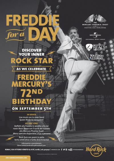 Freddie for a day  - Hard Rock Cafe Roma 2018
