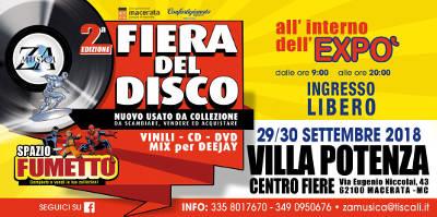 2^ Fiera del Disco e Spazio Fumetto Macerata - 29-30 settembre 2018