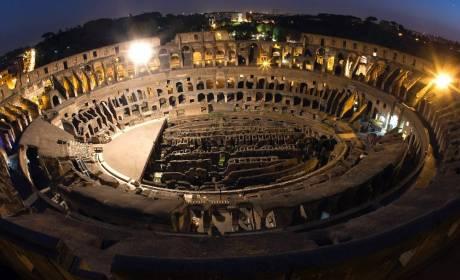 Veduta dall'alto del Colosseo