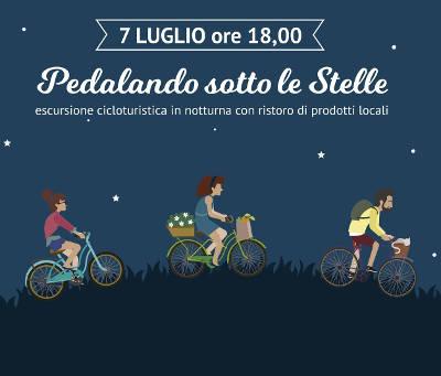 locandina escursione ciclistica Pedalando sotto le stelle