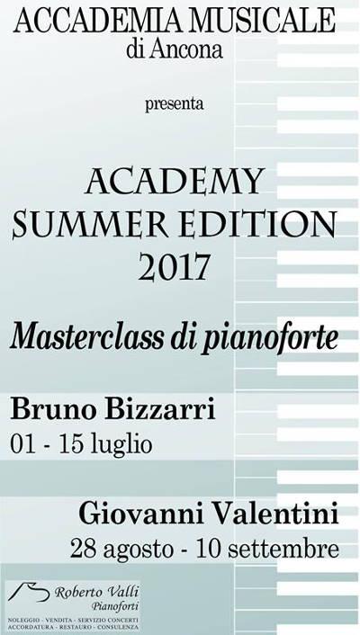 manifesto Masterclass Estive 2017 Accademia Musicale Ancona