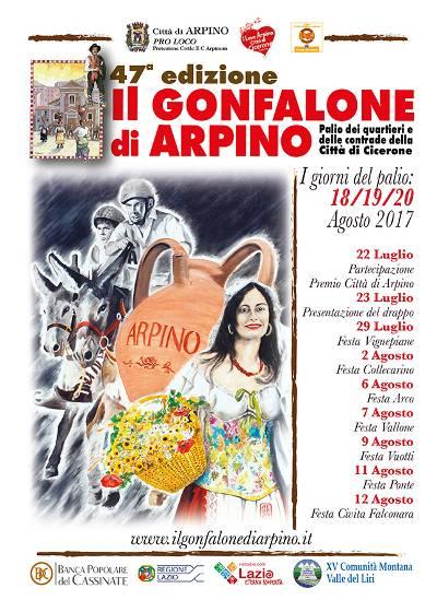 locandina gonfalone arpino 2017