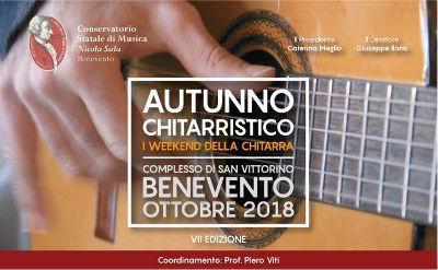 Autunno Chitarristico 2018, VII edizione. A Benevento dal 24 al 27 ottobre 2018 presso il Conservatorio Statale di Musica Nicola Sala. © Conservatorio Statale di Musica Nicola Sala / Autunno Chitarristico.