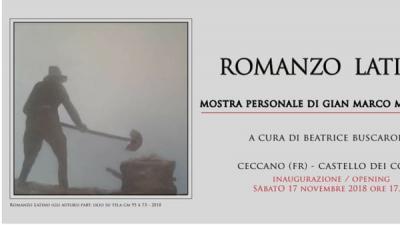 Mostra personale di Gian Marco Montesano - Ceccano (FR) - dal 17 novembre al 9 gennaio