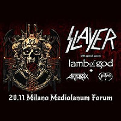 Slayer tour di addio alle scene. Milano 2018