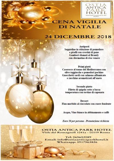 locandina cena vigilia di natale 24 dicembre 2018