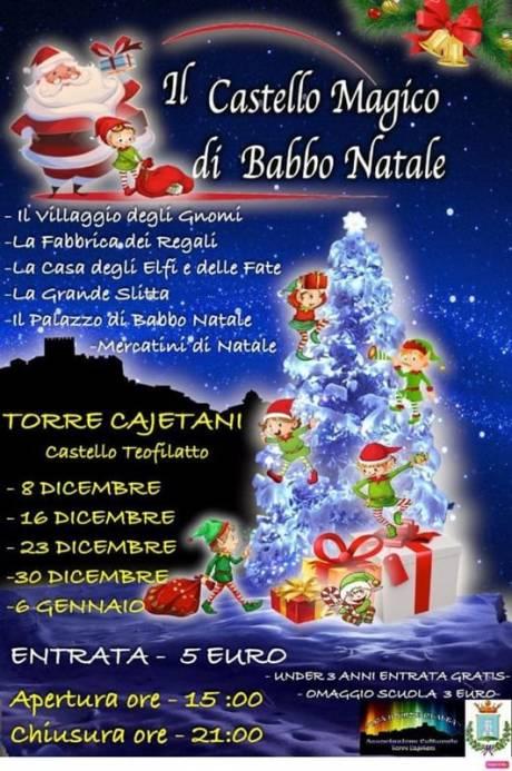 Castello di Babbo Natale 2018 Torre Cajetani, locandina