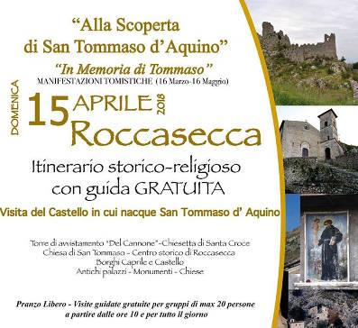 Roccasecca, visita San Tommaso 2018