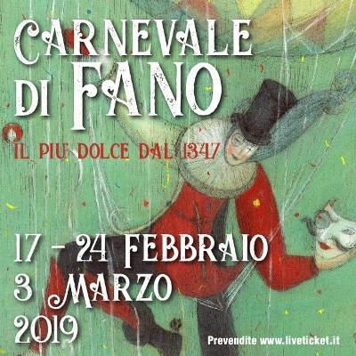 Carnevale di Fano 2019: 17, 24 febbraio e 3 marzo 2019. © Ente Carnevalesca.