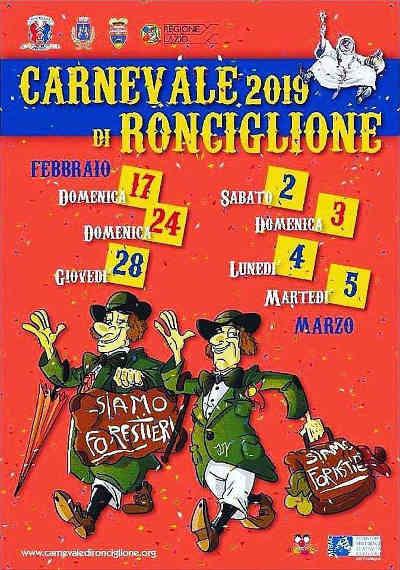 Carnevale Storico di Ronciglione 2019: 17-24-28 febbraio e 2-3-4-5 marzo 2019. © Pro Loco Ronciglione.