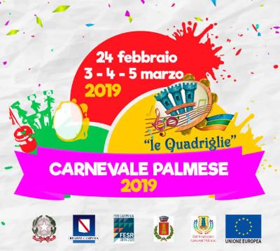 Carnevale Palmese 2019: 24 febbraio, 03-04-05 marzo 2019 a Palma Campania. © Ente Fondazione Carnevale Palmese.