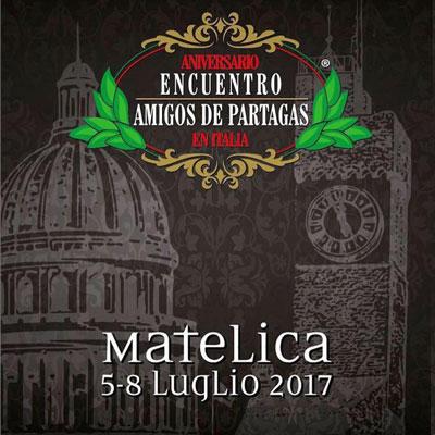 XII Encuentro Amigos de Partagas Italia. A Matelica dal 5 all'8 luglio 2017.