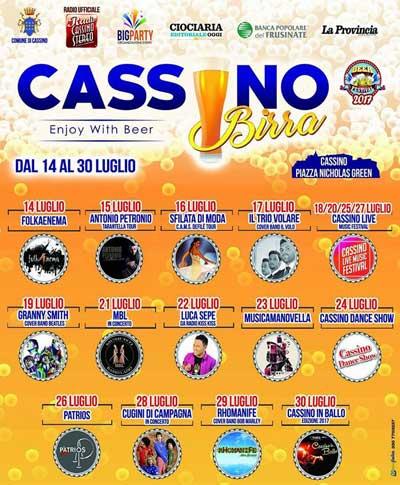 Locandina e programma Cassino Birra 2017