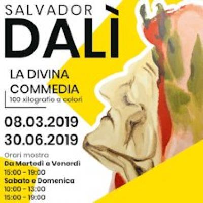 Divina Commedia, 100 xilografie di Salvador Dalì - locandina della mostra