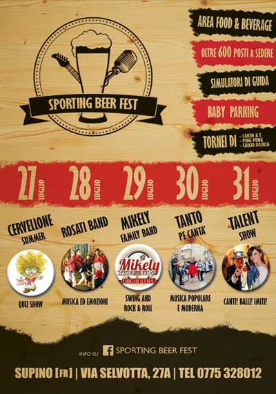 Sporting Beer Fest - Supino (FR) 2017