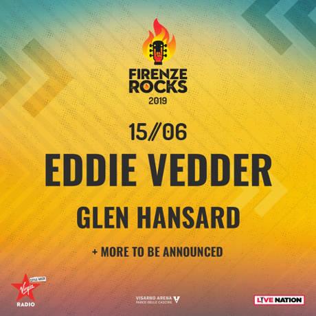 Eddie Vedder @ Firenze Rocks Festival, locandina