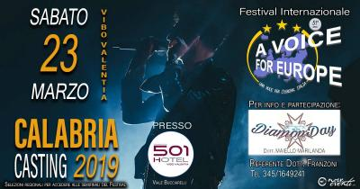 Una voce per l'Europa 2019, casting Calabria