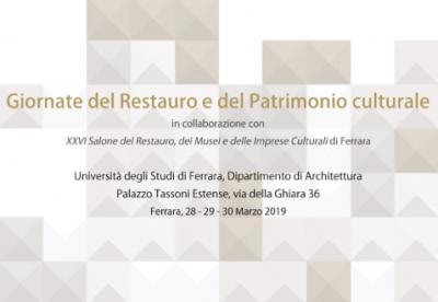 Le giornate del Restauro e del Patrimonio Culturale - Ferrara - marzo 2019