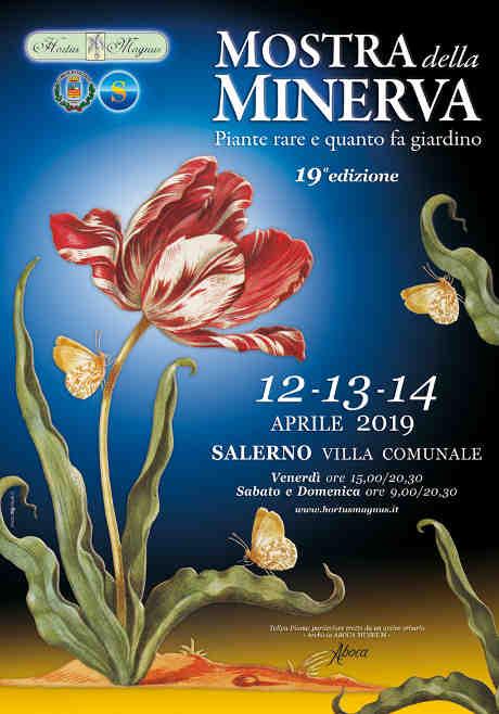 Mostra della Minerva, 19^ edizione. A Salerno dal 12 al 14 aprile 2019. A cura dell'associazione cultura Hortus Magnus, con il patrocinio del Comune di Salerno. © Aboca Museum / Hortus Magnus.