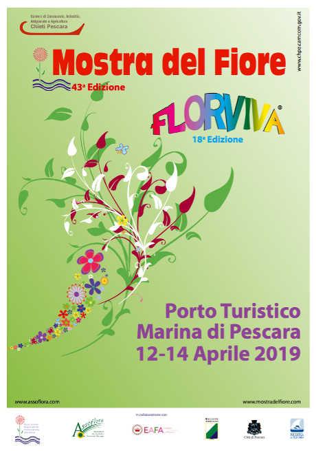 Florviva Mostra del Fiore 2019, 43^ edizione. Al Porto Turistico Marina di Pescara dal 12 al 14 aprile 2019. © Florviva / Mostra del Fiore / AssoFlora.