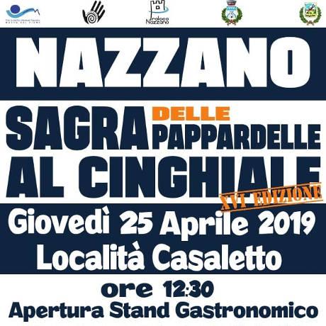locandina Sagra delle pappardelle al cinghiale - Nazzano 2019