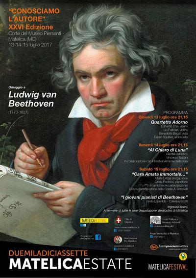 Omaggio a Ludwig Van Beethoven @ Conosciamo l'Autore  XXVI ed. Matelica, dal 13 al 15 luglio 2017. © Matelica Festival.