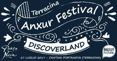 locandina serata Discoverland - Anxur Festival 2017 estate