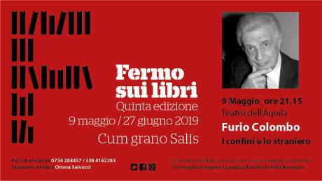 Furio Colombo a Fermo sui Libri 2019, V edizione. Teatro dell'Aquila, Fermo, 09 maggio 2019. © Fermo sui Libri 2019.
