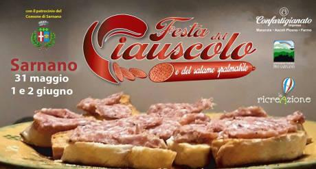 Festa del Ciauscolo e del Salame Spalmabile. Sarnano, 31 maggio - 02 giugno 2019. © La Ricreazione srl.