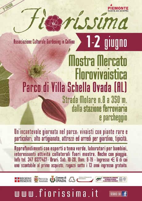 Fiorissima 2019 a Villa Schella, Ovada (AL), 01-02 giugno 2019. © Associazione Culturale Gardening in Collina / Fiorissima.