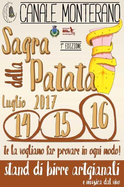 locandina Sagra della Patata 2017 - Canale Monterano