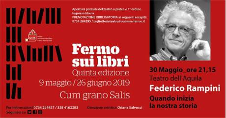Federico Rampini a Fermo sui Libri 2019, V edizione. Teatro dell'Aquila, Fermo, 30 maggio 2019. © Fermo sui Libri 2019.
