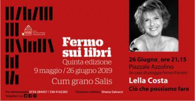 Lella Costa a Fermo sui Libri 2019, V edizione. Fermo, 26 giugno 2019. © Fermo sui Libri 2019.