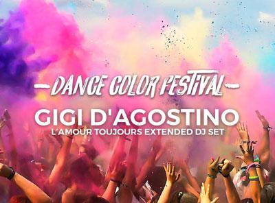 locandina Dance Color Festival con Gigi D'Agostino