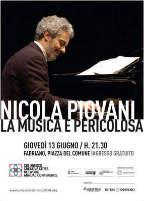Nicola Piovani: La musica è pericolosa per la XIII UNESCO Creative Cities Conference. Fabriano, 13 giugno 2019. © Fabriano Città Creativa.