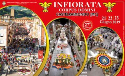 Infiorata Corpus Domini di Castelraimondo 2019, 27^ edizione. Dal 21 al 23 giugno 2019. © Comitato Infiorata Corpus Domini / Ass. Pro Loco Castelraimondo.