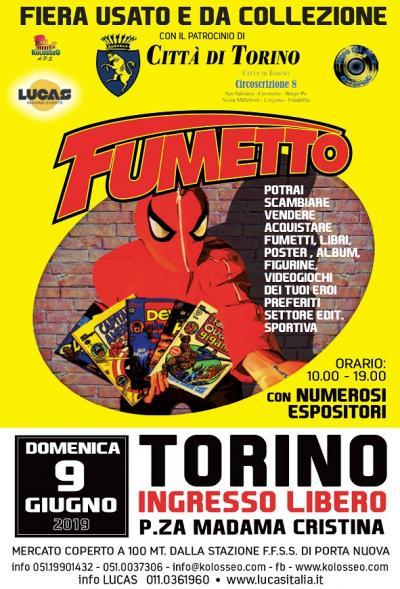 Torino fumetto 2019, locandina