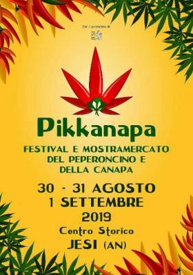 Pikkanapa 2019 - Festival e Mostra Mercato del Peperoncino e della Canapa @ Jesi. 30-31 agosto, 01 settembre 2019. © Pikkanapa.