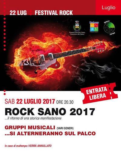 locandina Rock sano 2017