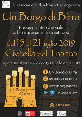 Un Borgo di Birra 2019, 6^ edizione. Civitella del Tronto, 15 - 21 luglio 2019. © Un Borgo di Birra / Associazione La Piazzetta.