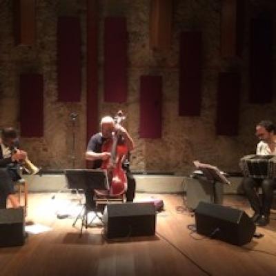 Paolo Fresu and Daniele di Bonaventura con Jaques Morelenbaum - Arona (NO) - 27 luglio
