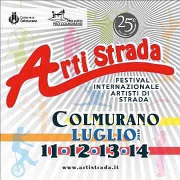 ArtiStrada 2019 - Colmurano Buskers Festival, 25^ edizione, dall'11 al 14 luglio 2019. © ArtiStrada - Colmurano Buskers Festival.