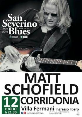 Matt Schofield @ San Severino Blues Marche Festival, XXVIII edizione. Corridonia, 12 luglio 2019. © San Severino Blues Marche Festival.