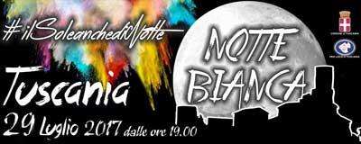 notte bianca Tuscania 2017
