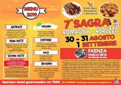 Sagra della Romagna e dell'Abruzzo - Faenza - 30, 31 Agosto e 1 Settembre